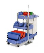 Numatic VCN 1604 BK3, dezinfekčný vozík s plochým žmýkačom.